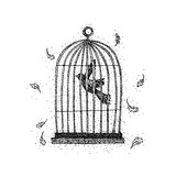 Bird in a Cage Dotwork