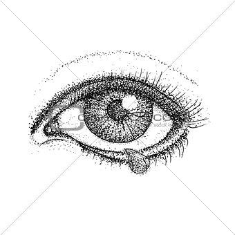 Crying Eye Dotwork