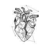 Polygonal Broken Heart Dotwork