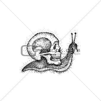 Slow Snail as Death Dotwork
