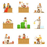 Artisan Craftsmanship Masters, Adult People And Craft Hobbies And Professions Set Of Vector Illustrations.