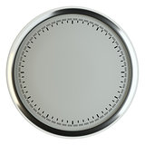 Template of empty clock without arrows
