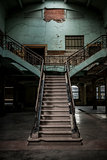vintage stairway in a old building