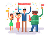 Congratulations group people