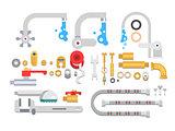 Set plumbing parts