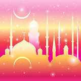 Graphic mosques and month