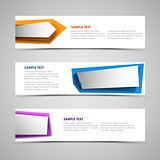 Collection banners with colorful design abstract labels