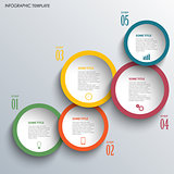 Info graphic with large color round labels