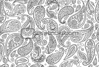 Paisley ornament, seamless pattern for your design