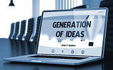 Generation Of Ideas on Laptop in Conference Room. 3D.