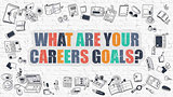 Multicolor What are Your Careers Goals on White Brickwall. Dood