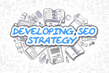 Developing SEO Strategy - Business Concept.