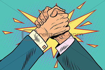 business Arm wrestling fight confrontation