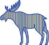 Moose Silhouette Drawing