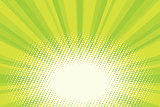 Green natural eco sunrise pop art background