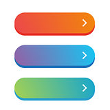 Empty web button vector