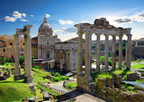 Roman Forum in summer