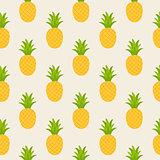 seamless pattern of yellow pineapple