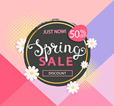 The spring sale logo
