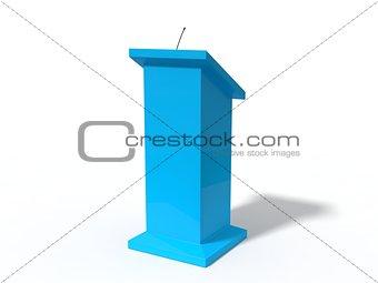 3d illustration of conceptual debate tribune.