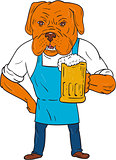 Bordeaux Dog Brewer Mug Mascot Cartoon