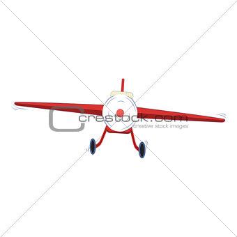 Small plane vector illustration.
