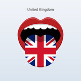 United Kingdom language. Abstract human tongue.