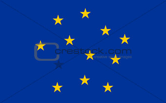 Abstract Flag of European Union with blended stars.