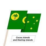 Cocos Islands and Keeling Islands Ribbon Waving Flag Isolated on White. Vector Illustration.