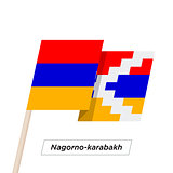 Nagorno-karabakh Sharp Ribbon Waving Flag Isolated on White. Vector Illustration.