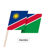 Namibia Ribbon Waving Flag Isolated on White. Vector Illustration.