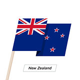 New Zealand Ribbon Waving Flag Isolated on White. Vector Illustration.