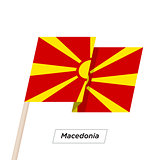 Macedonia Ribbon Waving Flag Isolated on White. Vector Illustration.