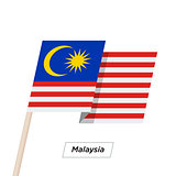 Malaysia Ribbon Waving Flag Isolated on White. Vector Illustration.