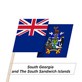 South Georgia and South Sandwich Islands Ribbon Waving Flag Isolated on White. Vector Illustration.