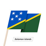 Solomon Islands Sharp Ribbon Waving Flag Isolated on White. Vector Illustration.