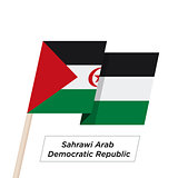 Sahrawi Arab Democratic Repablic Ribbon Waving Flag Isolated on White. Vector Illustration.