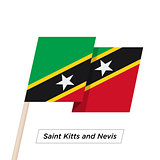 Saint Kitts and Nevis Ribbon Waving Flag Isolated on White. Vector Illustration.