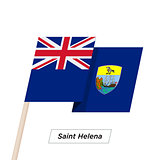Saint Helena Ribbon Waving Flag Isolated on White. Vector Illustration.