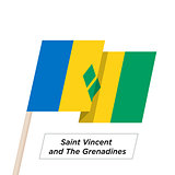 Saint Vincent and the Grenadines Ribbon Waving Flag Isolated on White. Vector Illustration.