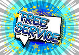 Free Service - Comic book style word.