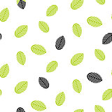 Greenery leaves seamless vector pattern.
