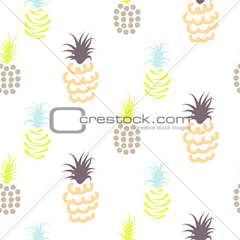 Abstract pineapple pastel colors pattern.