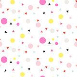Confetti seamless white vector background.
