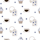 Vector tea package seamless pattern.