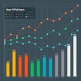 Infographic elements - bar and line chart