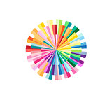 Abstract colorful circular pattern