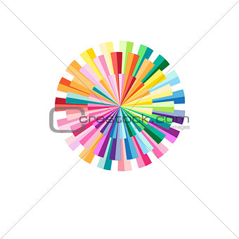 Abstract colorful circular pattern