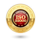 ISO 22000 certified medal - Food safety management