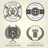 Attorney and lawyer bureau emblems and badges